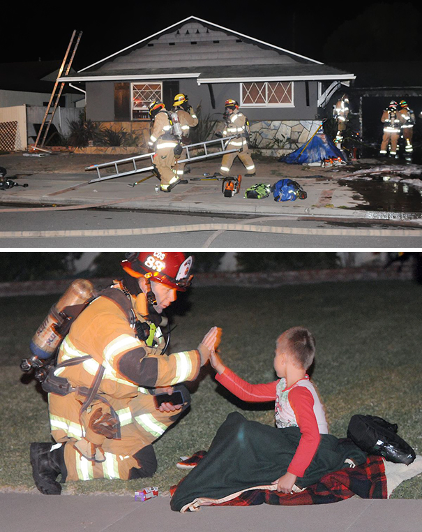 7-Year-Old Boy Spotted A Fire, Woke Up His Dad And Saved The House