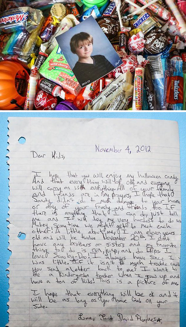 11-Year-Old Boy Donates All His Halloween Candy To Sandy Victims From New York And New Jersey