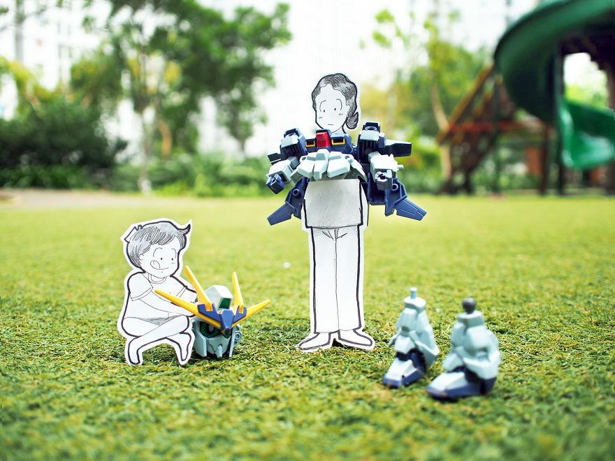 Abang & Neng's Date Ideas: Asemble A Gundam Robot