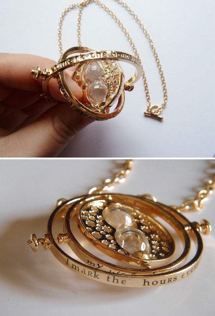 3 Hermiones Time Turner Necklace