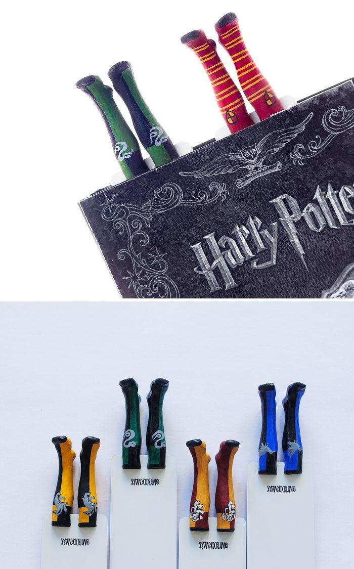 Hogwarts Houses Socks Bookmarks