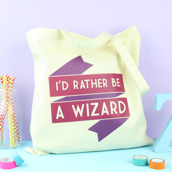 I'd Rather Be A Wizard Tote Bag