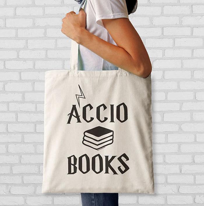 Accio Books Quote Tote Bag