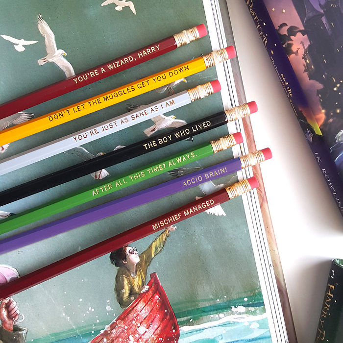 Harry Potter Quote Pencils