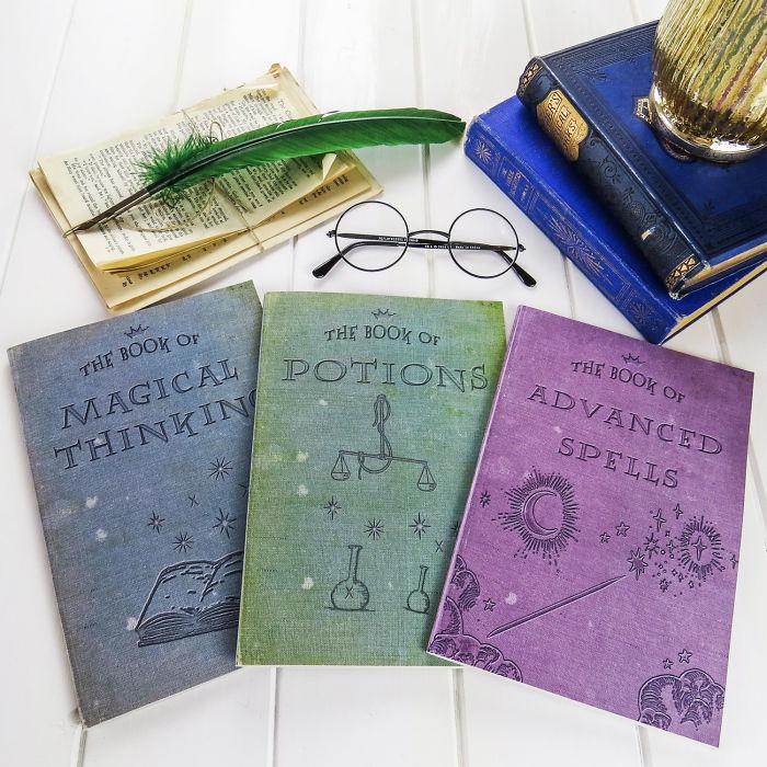 Hogwarts School Book-inspired Notebooks