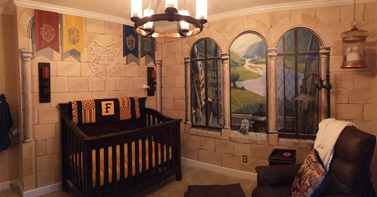 Dad Creates 'Harry Potter' Nursery For His Little Wizard