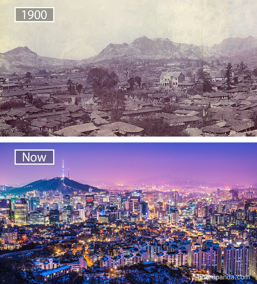 سول، كوريا الجنوبية قبل وبعد How-famous-city-changed-timelapse-evolution-before-after-14-577a0536ca778__880