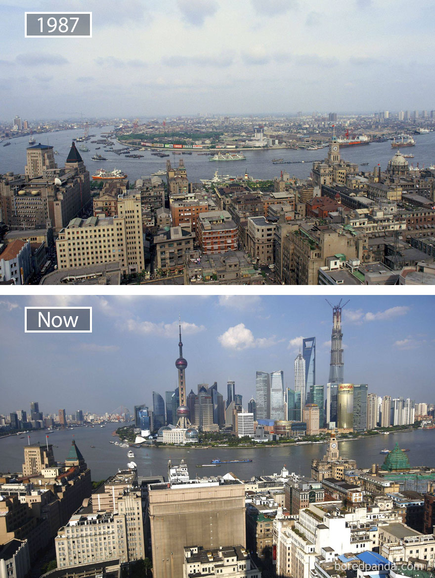 Shanghai, China - 1987 And Now
