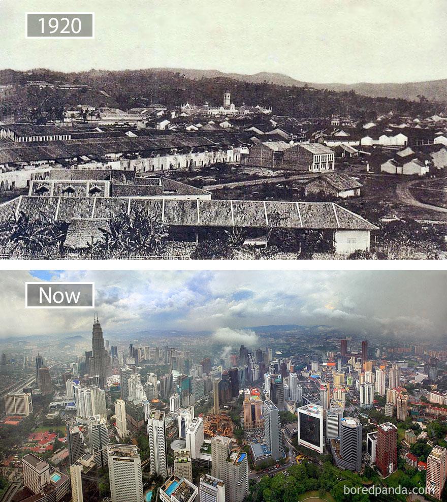 Kuala Lumpur, Malaysia - 1920 And Present