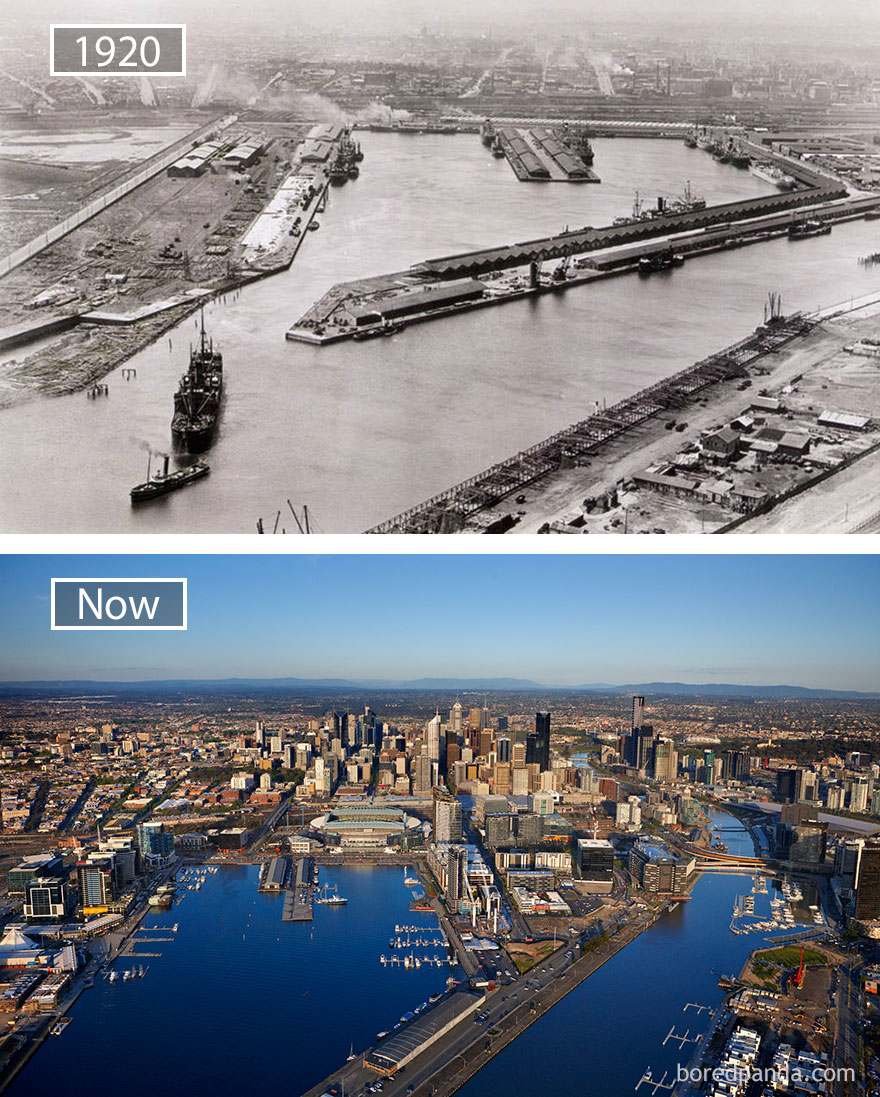 Melbourne, Australia - 1920 And Now