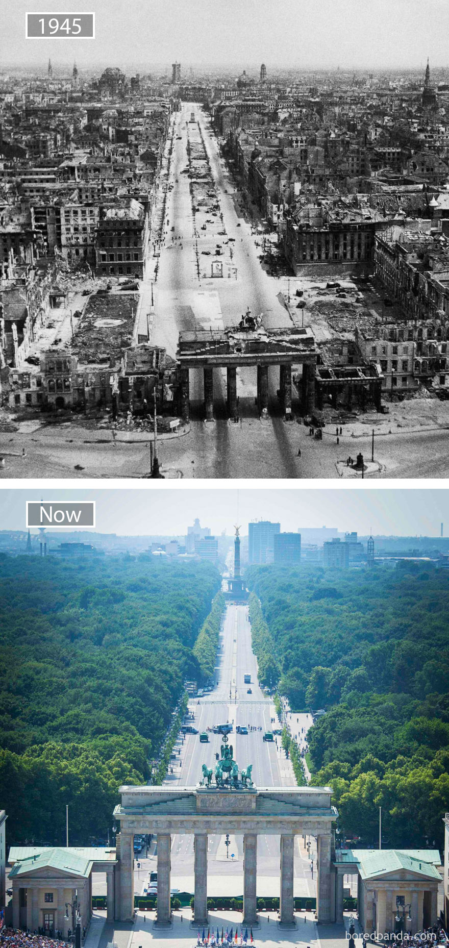 Berlin, Germany - 1945 And Now