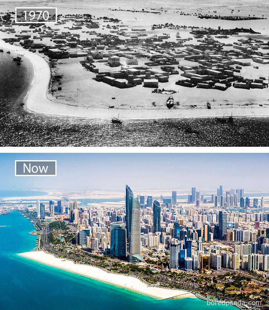 Abu Dhabi, United Arab Emirates - 1970 And Now