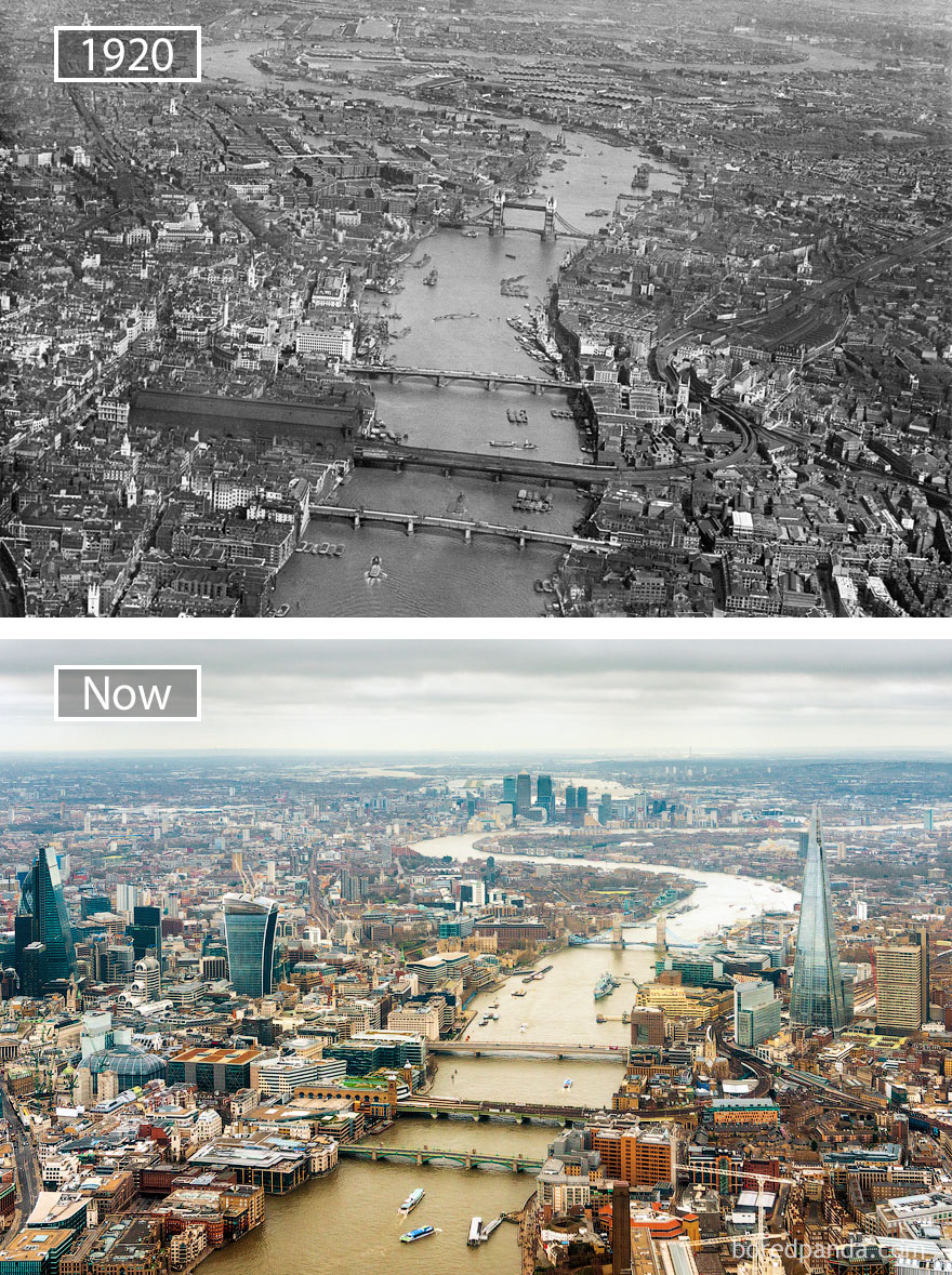 London, The Great Britain - 1920 And Now