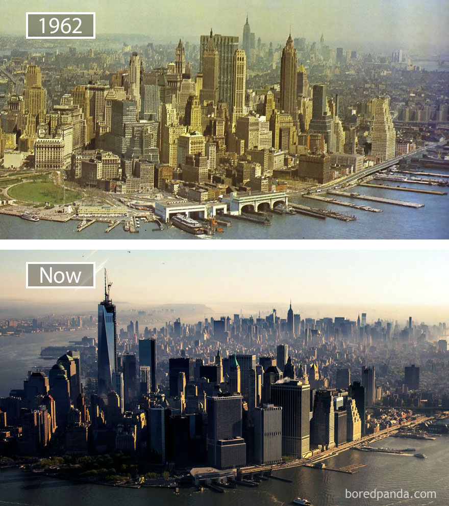 New York, Usa - 1962 And Now