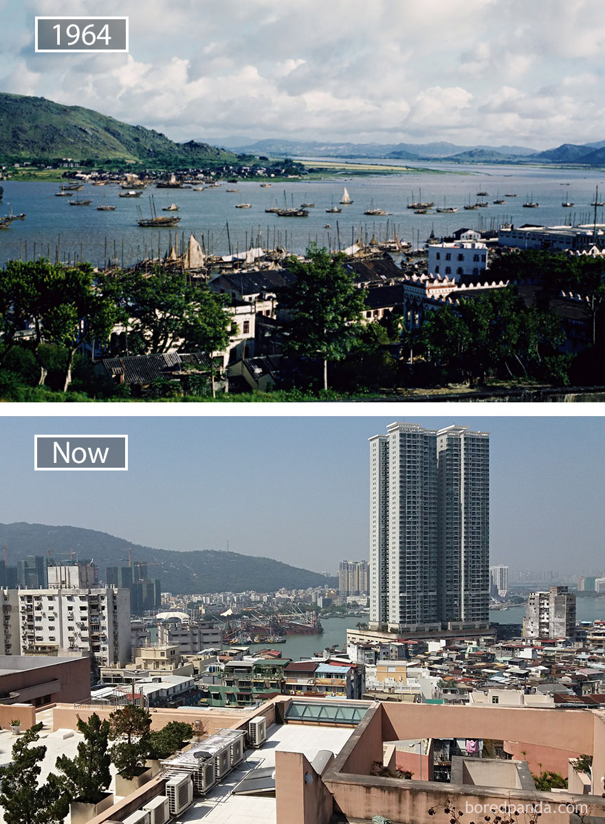 Macau, China - 1964 And Now
