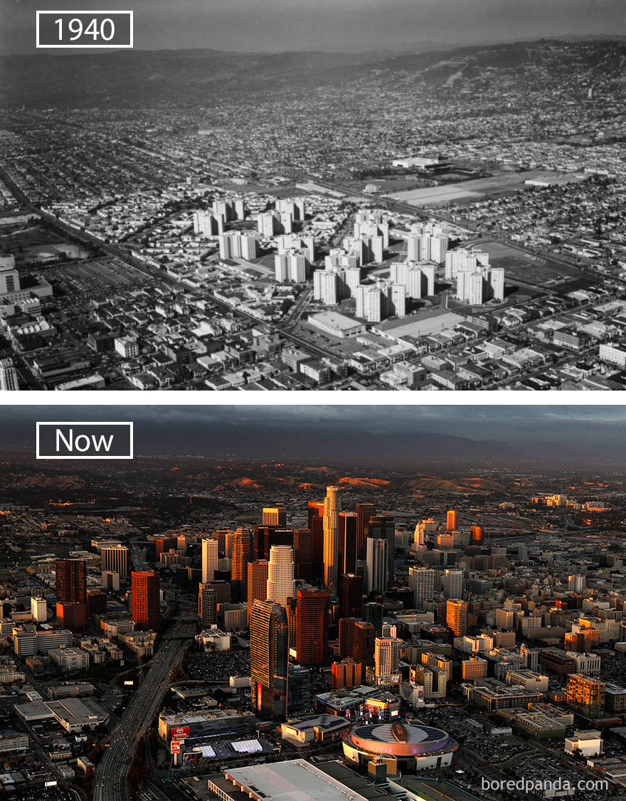 Los Angeles, Usa - 1940 And Now