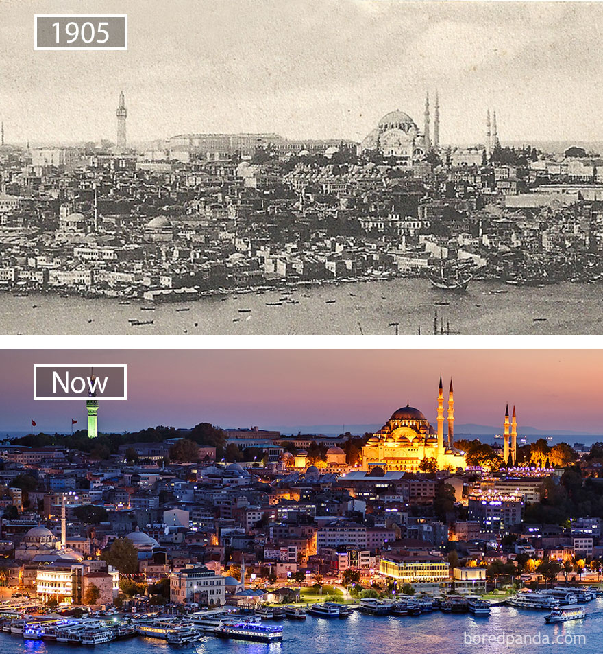 Istanbul, Turkey - 1905 And Now