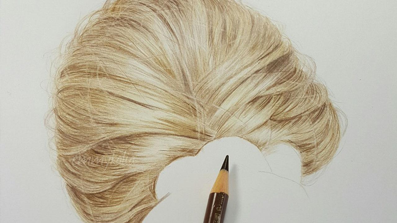 Hyperrealistic Hair Drawing By EmmyKalia   Bored Panda Emmy Kalia