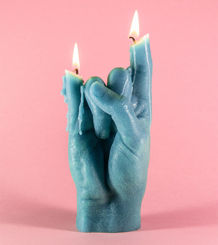 I Made Hand Gesture Candles