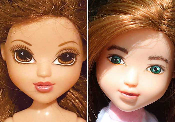 I Re-Paint Faces Of Bratz Dolls To Promote Positive Body Image In Children