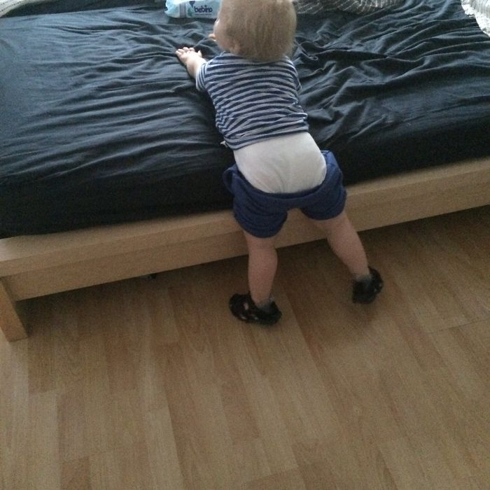 Daddy Forgot To Pull Up His Pants...