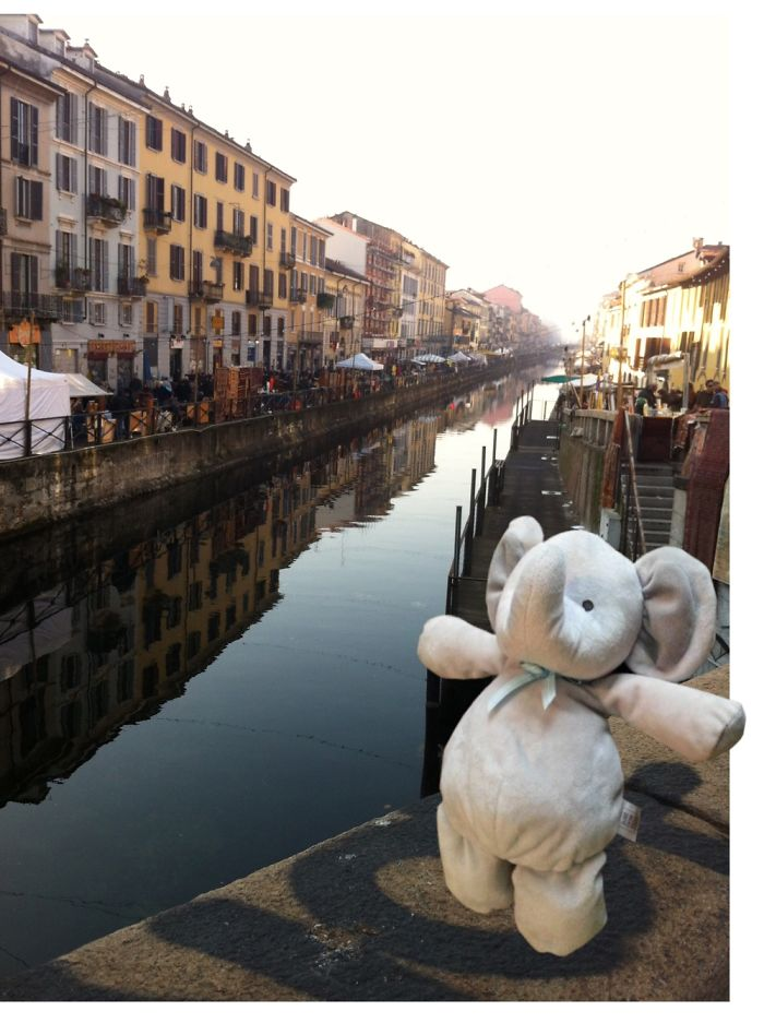 He Appreciated A Walk Near Naviglio Grande, Milan Italy