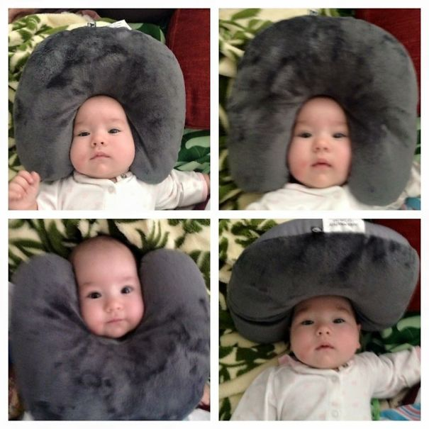Many Faces Of Leila And A Travel Pillow - When Mommy Takes A Nap And Daddy Is Left In Charge