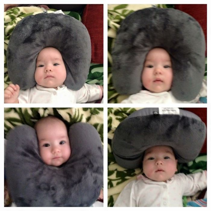 Many Faces Of Leila And A Travel Pillow – When Mommy Takes A Nap And Daddy Is Left In Charge