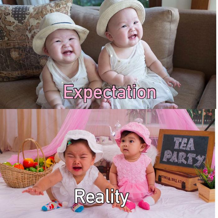 Expectation Vs Reality Baby Photography