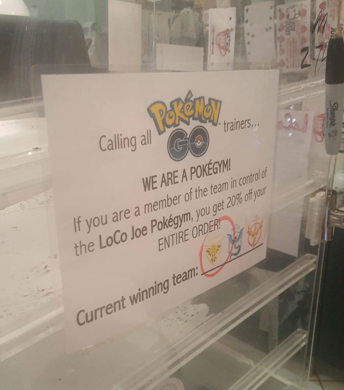 Local Coffee Shop Had A Really Neat Idea To Incentivize The Game And Their Gym