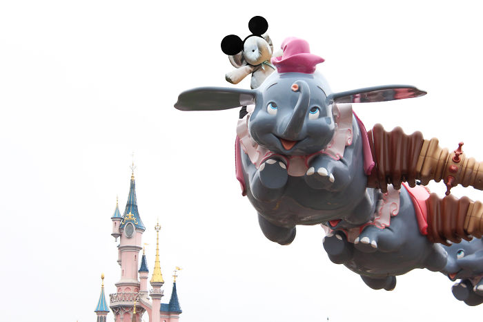 He Couldn't Find Dumbo At Disneyland, But He Had To Have A Ride On It