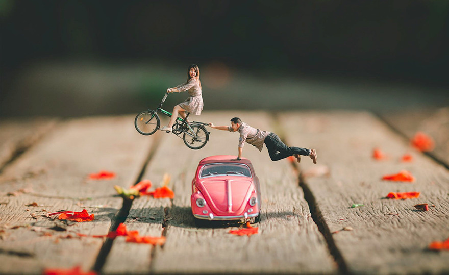 Really Creative Wedding Photographer Turns Bride And Groom Into Miniature People