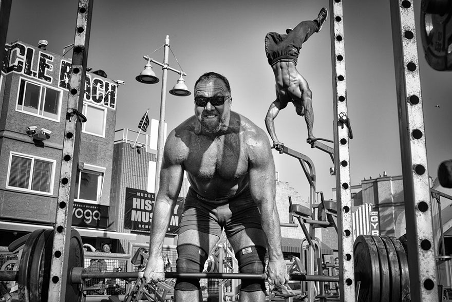 Honorable Mention,people: Muscle Beach Gym, Venice Beach, California, United States