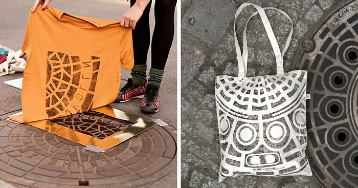 3c6de226 Pirate Printers: These Guys Use Urban Utility Covers To Print Bags And  Shirts