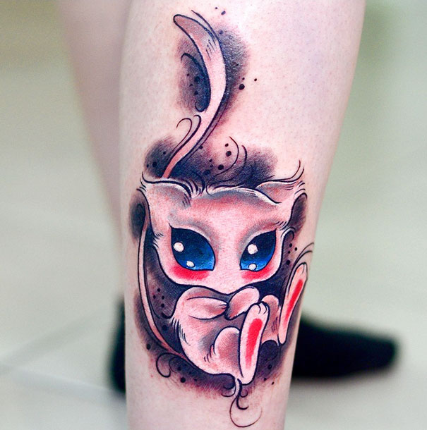 20 Pokemon Tattoos For Fans Who Want To Catch Them All Bored Panda