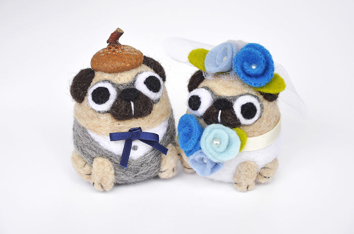 The Perfect Wedding Cake Topper For The Pug Fans