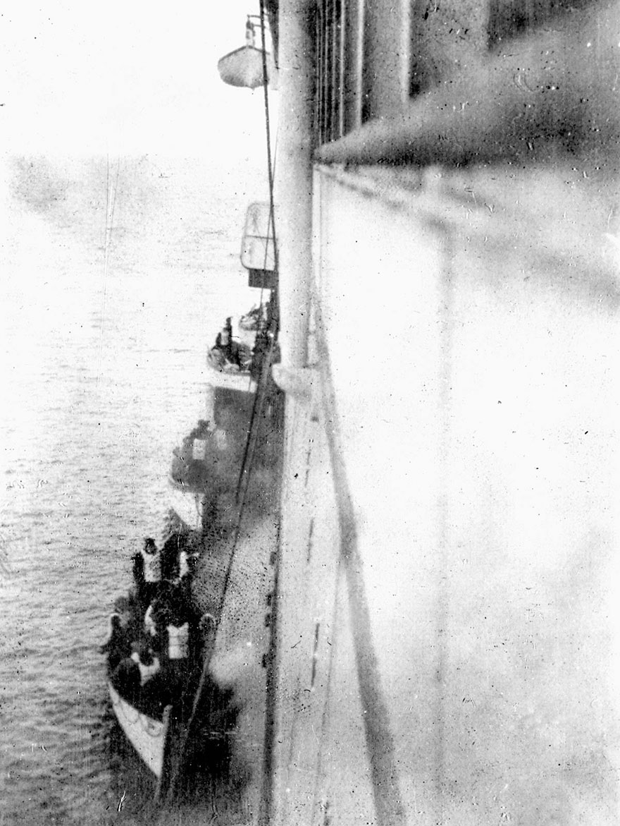 These Are Titanic Survivors Boarding The Carpathia In 1912