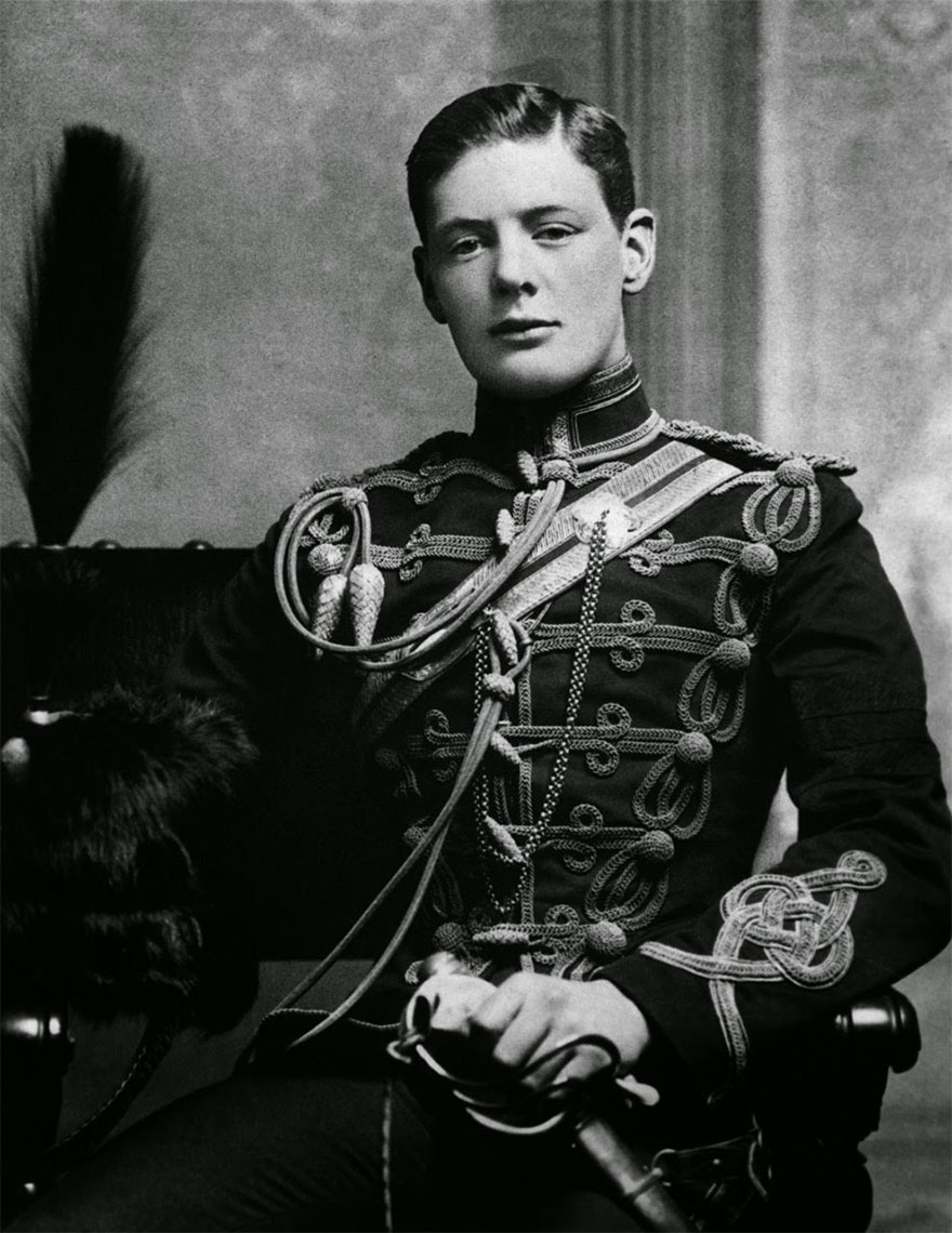 A Rare Shot Of A Young Winston Churchill, 1895