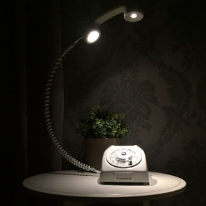 Creative Lamp Made From An Old Rotary Phone