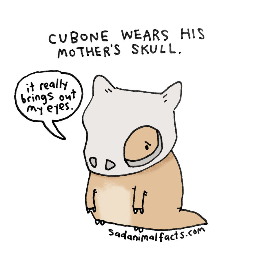 Cubone Wears The Saddest Possible Sort Of Hand-Me-Down