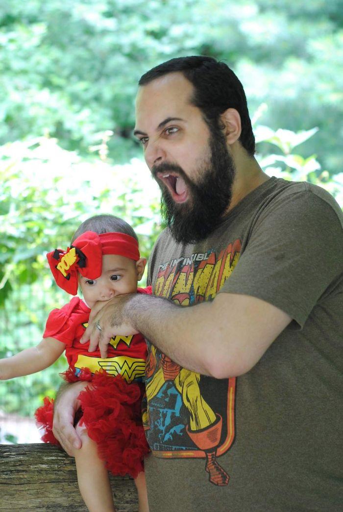 Wonder Woman Teething In Prospect Park.