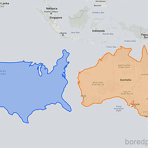 US Moved Down Next To Australia Looks Unbelievably Small