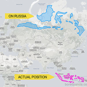 Indonesia Would Spread Almost Across The Whole Of Russia