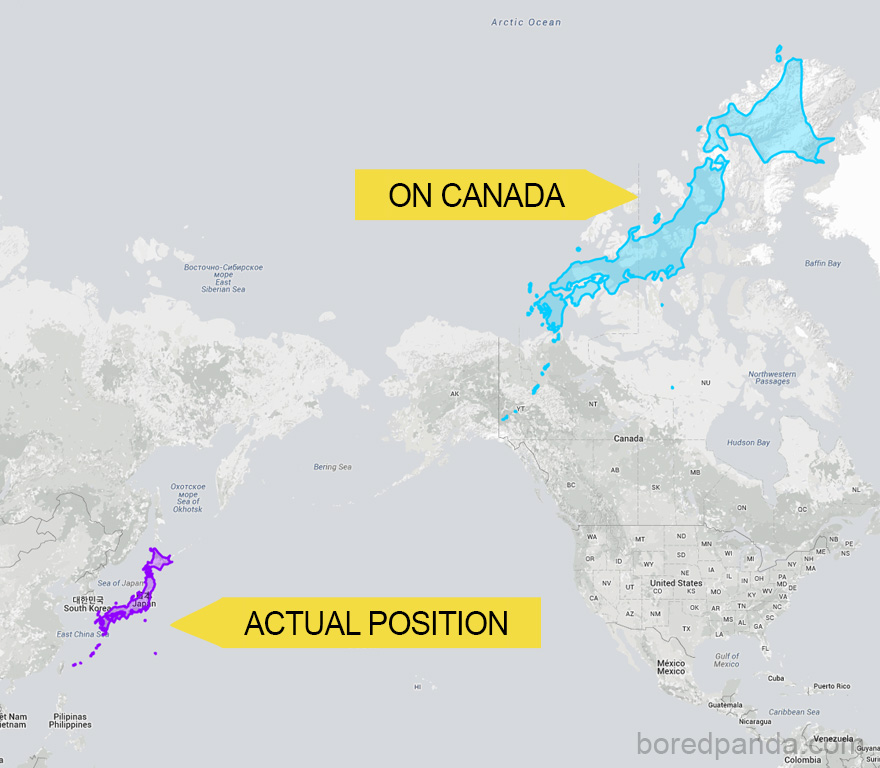 After Seeing These 15 Maps Youll Never Look At The World The – Map of World Canada