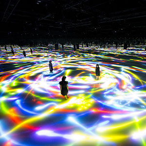 Our Installation Reacts To The Moves Of Its Viewers When They Walk In Water