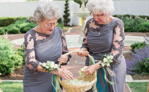 Bride And Groom's Grandmas Teamed Up As Flower Girls For Their Wedding