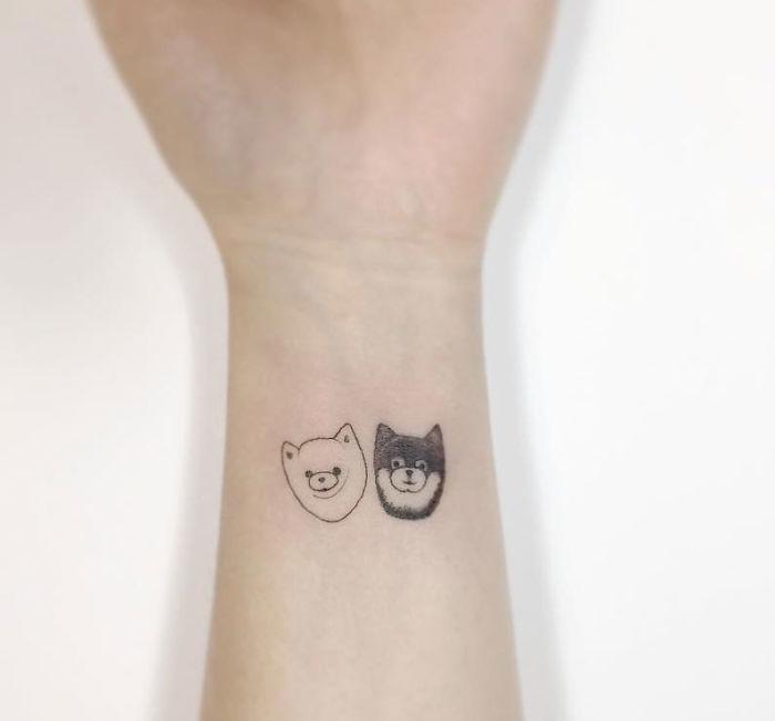 Simple Minimalist Owl Tattoo: 13+ Minimalist Tattoos By A Korean Artist