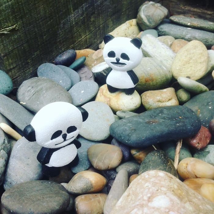 I Decided To Create Little Pandas For People To Find And Collect