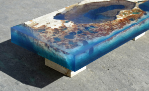 Ocean Coffee Tables That I Made By Merging Natural Stone And Resin