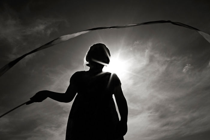 Ribbon Dancer By Ashley Waters, Canada (2nd Place In The Silhouette Category, First Half)